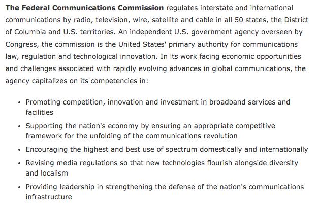 FCC mission statement