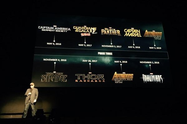 Marvel film slate