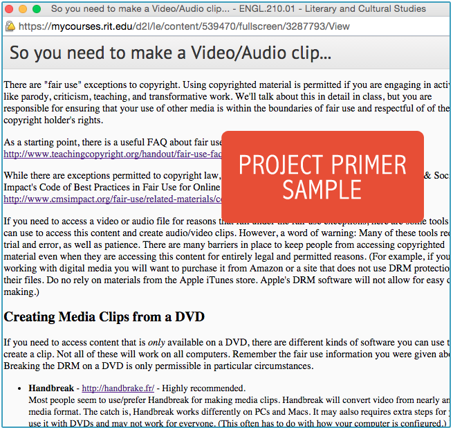 project primers