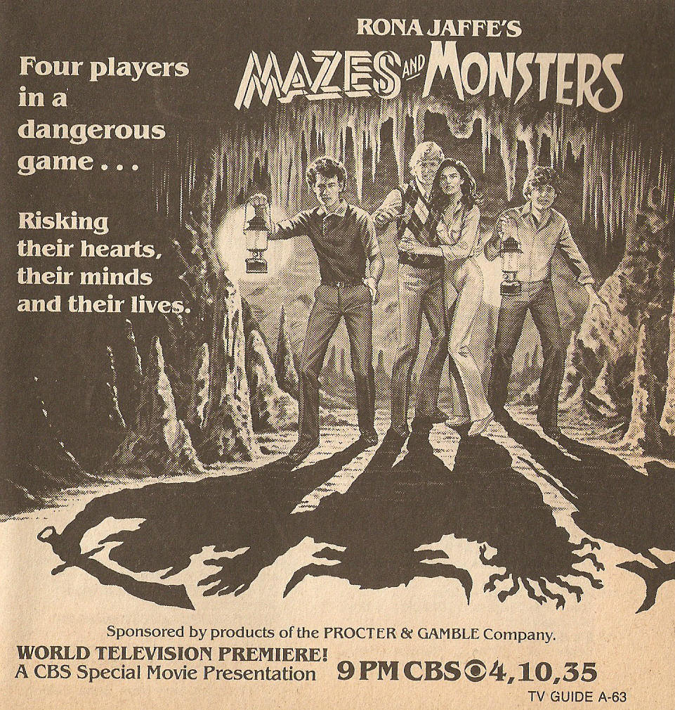 MAZES AND MONSTERS ADVERTISEMENT