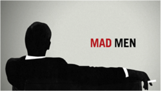 The final shot of the Mad Men opening credits